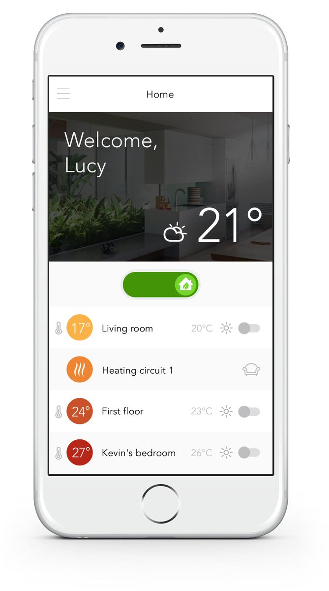 Smartfon z aplikacją sterowania klimatyzacją Hitachi
