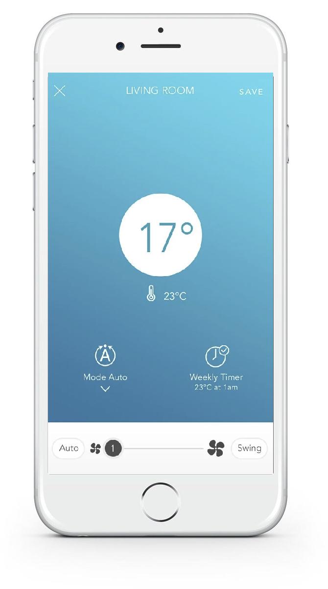 Aplikacja do sterowani klimatyzacją Hitachi